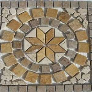 Travertin Medalion Mosaic 01
