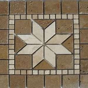 Travertin Medalion Mosaic 02