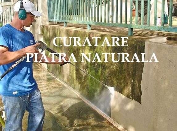 curatare piatra naturala gard Bucuresti
