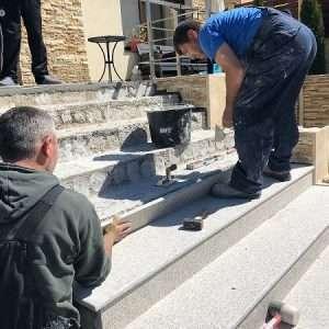 montaj granit trepte exterior Bucuresti